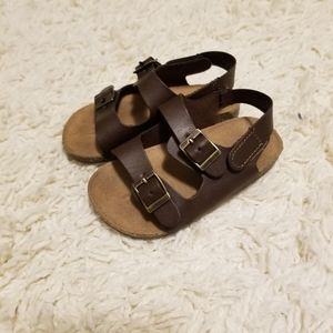 Old Navy brown sandals 18-24mos